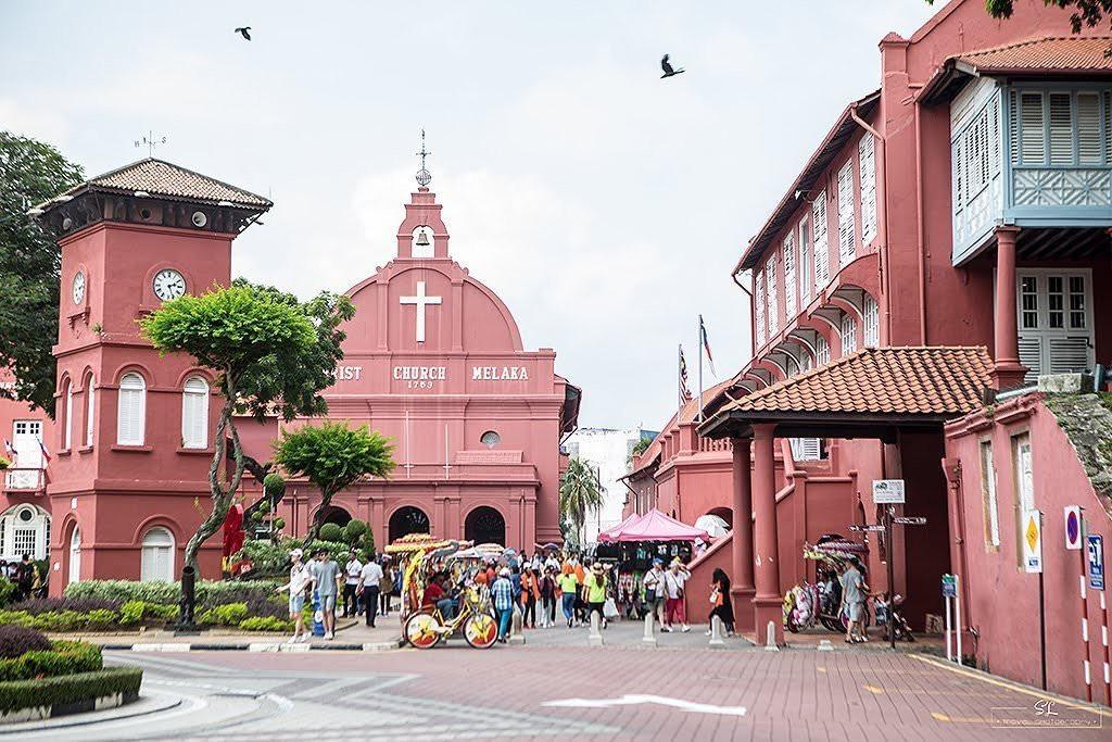 馬來西亞.馬六甲 | 大男人的背包之旅 | 瀰漫著微粉紅泡泡歐洲氛圍的荷蘭廣場