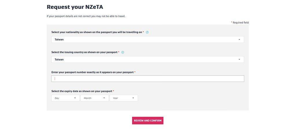 紐西蘭.電子旅行授權 | NZeTA 移民局官網申請教學